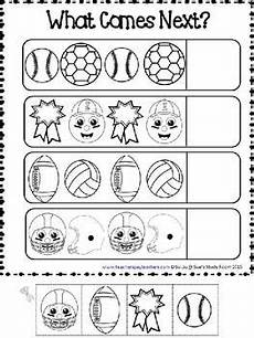 sports worksheets kindergarten 15816 patterns sports patterns worksheets maths pre school and autism activities