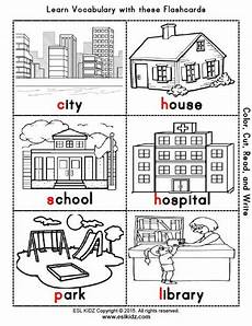 coloring pages places in town 18038 city places classroom center bundle math worksheets community helpers kindergarten