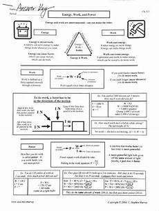 work power and energy review worksheet energy work power worksheet answer key
