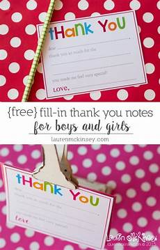 thank you card template for students from fill in printable thank you notes for birthday