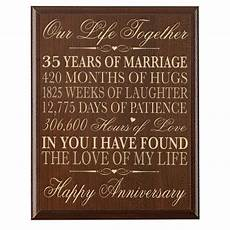 35 Years Wedding Anniversary Gift
