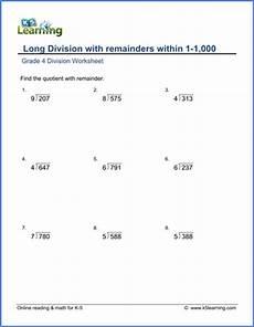 division worksheets grade 4 3 digit by 2 digit 6467 grade 4 math worksheet dividing 3 by 1 digit numbers with remainder k5 learning