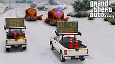 Gta 5 Mod Dot Emergency Message Board Truck Helping Snow
