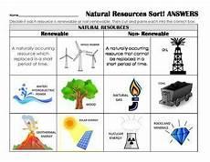 renewable or nonrenewable resources sort review assess center application science