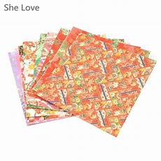 10 sheets origami washi paper meatllic diy scrapbooking paper craft making 12cm in