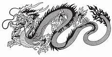 Drachen Schwarz Weiß - chinois noir et blanc illustration de vecteur