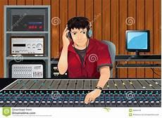 Producteur De Musique Dans Le Studio Illustration De