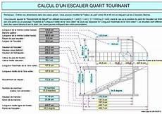 Calcul D Un Escalier Quart Tournant En Feuille Excel