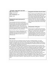 wuthering heights mwds major works cited data sheet 1 major works cited data sheet