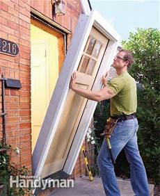 how to install replace door how to replace an exterior door the family handyman
