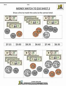 counting money printable worksheets 4th grade 2717 money math worksheets money match to 10 dollars 2 money math money math worksheets