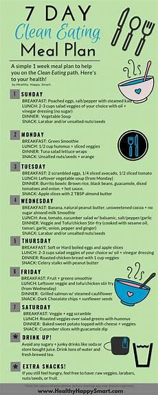 clean eating meal plan sle healthy happy smart