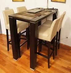 esstisch mit 4 stühlen tresen esstisch buche mit 4 st 252 hlen barstuhl wenge