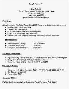 high school student sle resume main image high school