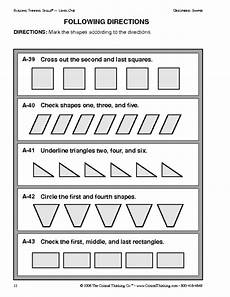 following directions worksheets grade 7 11701 education world critical thinking following directions worksheet following directions