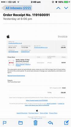 invoice received apple community