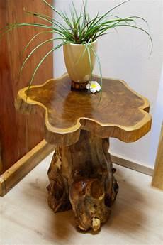 tisch aus baumstamm wurzelholz wurzelholz tisch mit baumscheibe teak holz beistelltisch