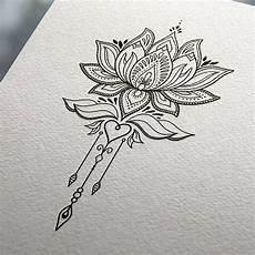 disegni fiore di loto tatuaggio fiore di loto disegnato su un foglio decorato
