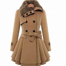 winter wool camel hooded winter wool coat sleeve autumn
