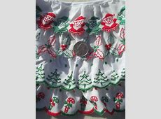Christmas sewing trim lot, eyelet & plaid ruffle edgings
