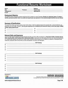 resume worksheet printable template business psd excel word pdf