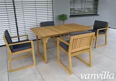 Gartenmöbel Set Holz - vanvilla gartenm 246 bel set holz 1 tisch 4 sessel set3