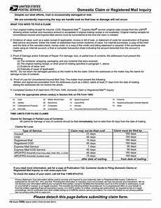 download usps form 1000 claim for loss or damage pdf freedownloads net
