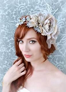 bridal fascinator lavender flower crown wedding hair