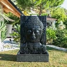 grande fontaine bouddha exterieur fontaine de jardin mur d eau visage de bouddha 1 m 50 noir