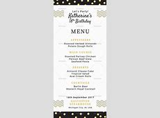 Birthday Dinner Party Menu Design Template in PSD, Word
