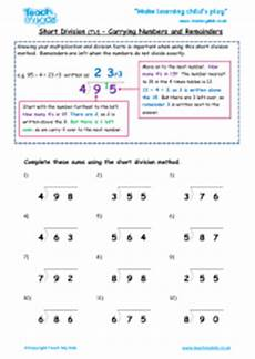 short division htu 2 extra practise teach my kids