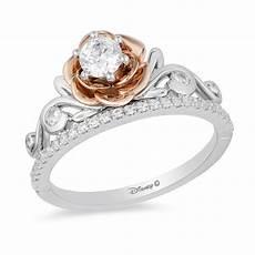 enchanted disney 0 50 ct t w diamond rose tiara