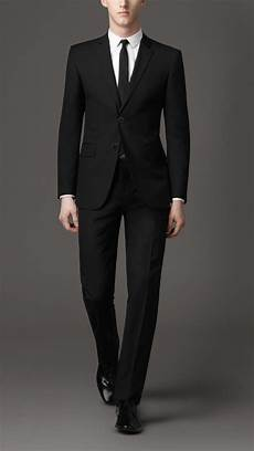 costume noir homme ensemble costume homme veste deux boutons pantalon noir
