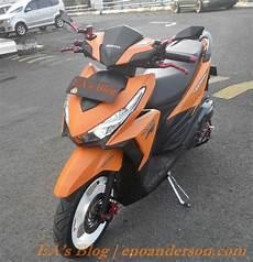 Honda Vario 150 Modifikasi Minimalis by Modifikasi Minimalis Honda Vario 150 Esp Custom Orange
