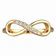 gold stein cz unendlich ring unendliche ringe