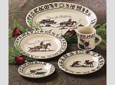 Christmas Cowboy Western Dinnerware Ranch Style Dishes by