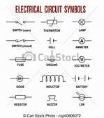 Symboler Elektrisk Str&248mkreds Helpful Baggrund Og