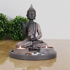 Buddha Sitzend Mit Teelicht 22cm Deko Statue F 252 R