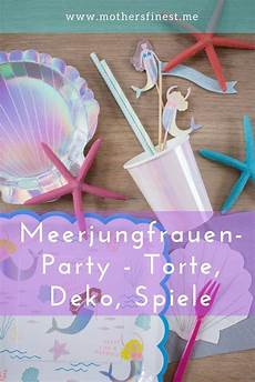 Meerjungfrauenparty Torte Dekoration Spiele
