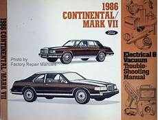 service and repair manuals 1988 lincoln continental mark vii electronic toll collection 1986 lincoln continental and mark vii electrical vacuum troubleshooting manual original