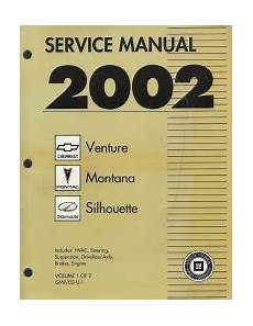 car repair manual download 2000 chevrolet venture user handbook 2002 chevrolet venture pontiac montana and oldsmobile
