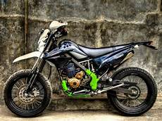 Modifikasi Supermoto by Modifikasi Klx 150 Supermoto Panduan Modifikasi Motor