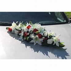 Composition Florale Pour Voiture De Mariage Blanc Et