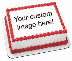 custom photo birthday party image transfer sheet edible frosting cake top icing ebay