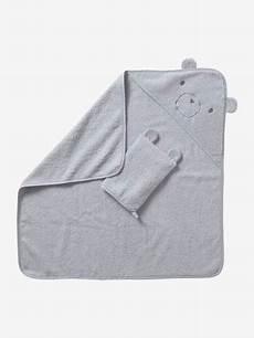cape de bain vertbaudet cape de bain gant coton bio blanc vertbaudet