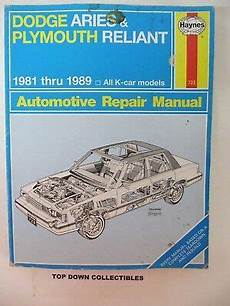 service repair manual free download 1981 plymouth reliant on board diagnostic system 1981 dodge aries k car brochure with color chart se custom station wagon 7 99 picclick