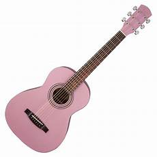 pink guitar fender fsr ma 1 3 4 acoustic guitar gloss pink at gear4music