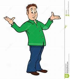 Mann Der Schultern Zuckt Vektor Abbildung Illustration