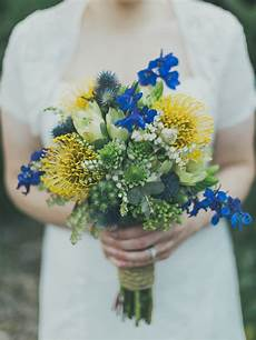 wedding bouquet ideas blue flowers yellow and blue bridal bouquet ideas for 2017 you can t