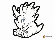 baby dinosaur coloring page free on clipartmag